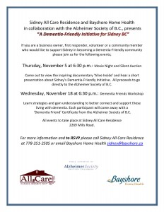 Dementia Friendly  Nov events in Sidney-page-001